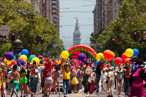 Desfilada orgullo gay San Franisco